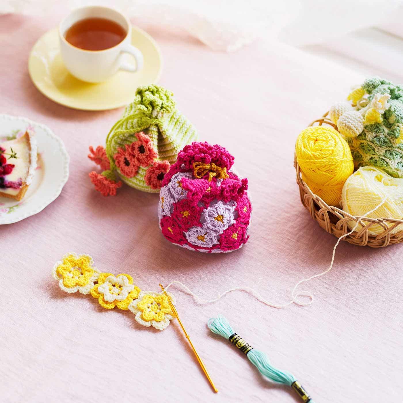 日々に元気をくれる花言葉を身近に感じる かぎ針編みのお花きんちゃくの会