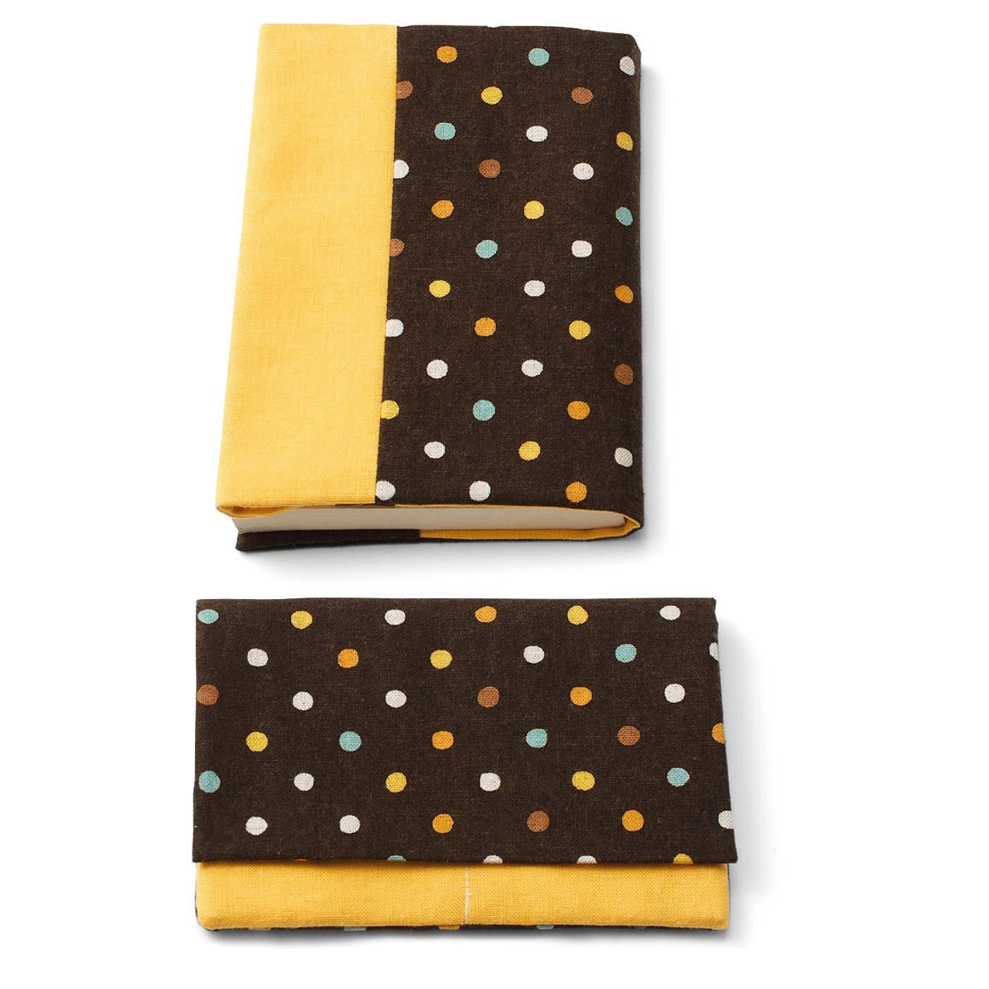 ブックカバー 縦約16cm、横約30cm(文庫本サイズ) カードケース 縦約10cm、横約15cm