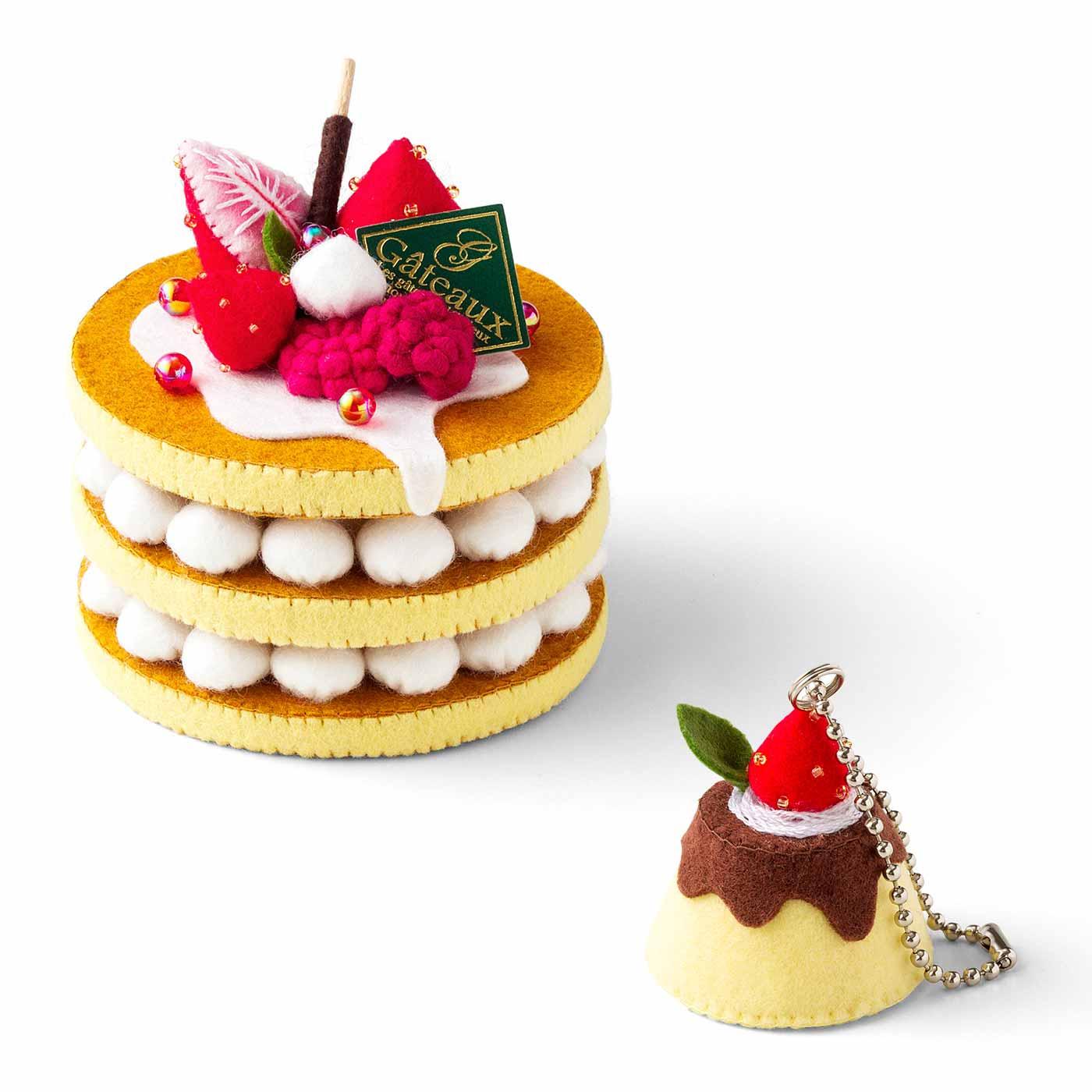 マスカットのケーキとマスカットミニケーキマグネット