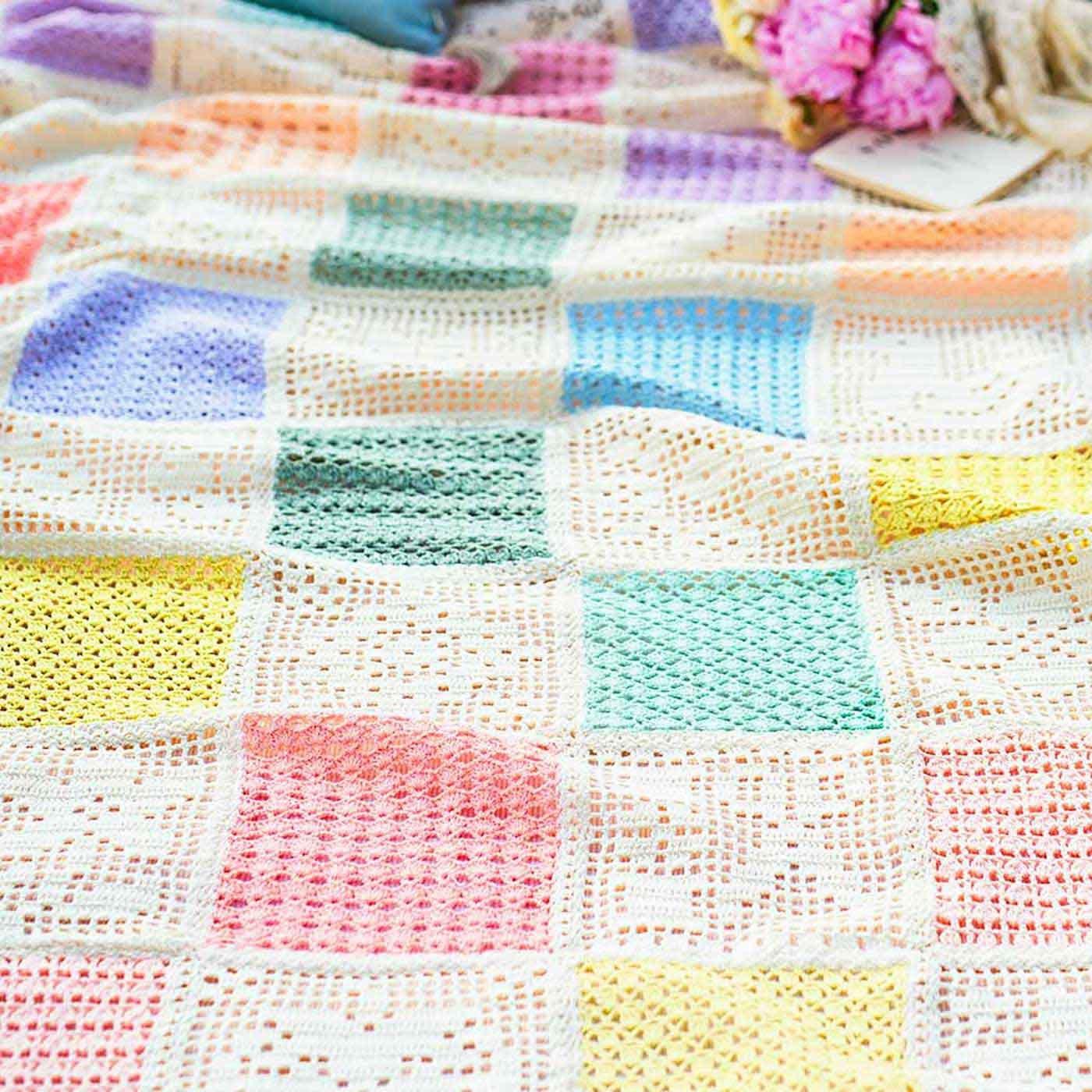 ふんわりやさしい色でつなぐ 方眼編みと模様編みドイリーの会