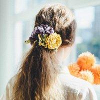 フェリシモ 四季を感じる かぎ針お花シュシュの会