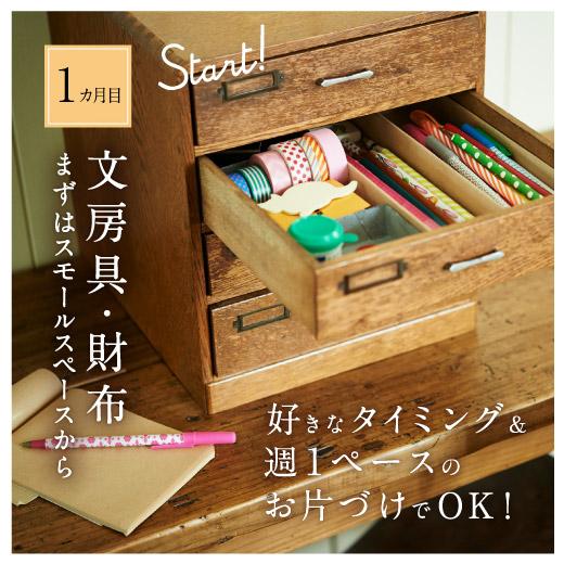 1ヵ月目:「文房具・財布」まずはスモールスペースから