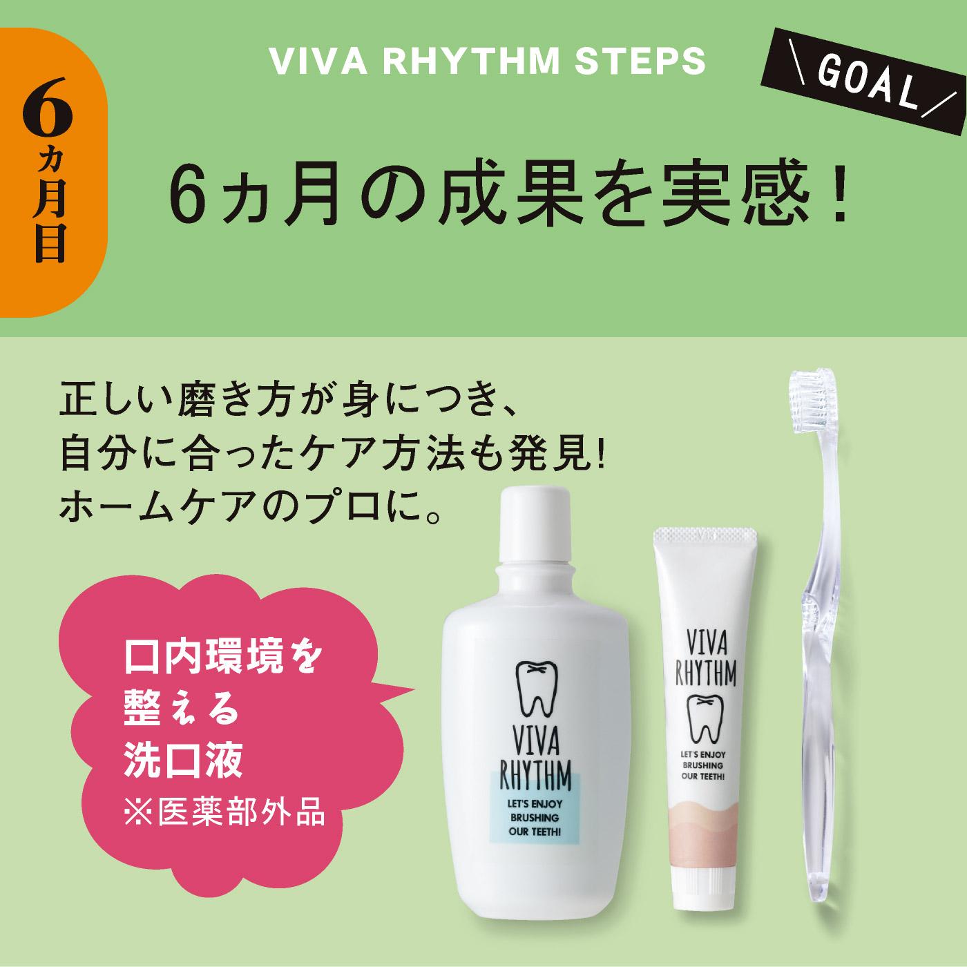 6ヵ月目)美歯リズム+洗口液