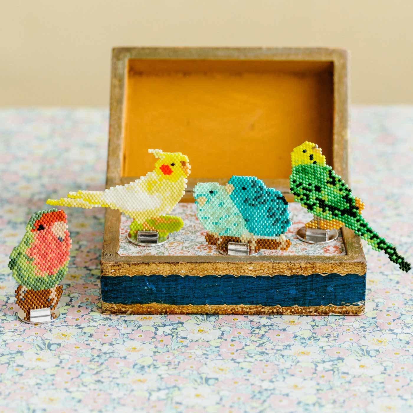 クチュリエ×小鳥部 たたずまいに癒やされる ビーズステッチの小鳥の会