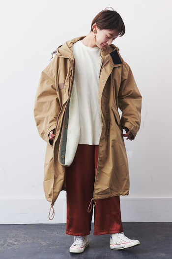 Real Stock|LEE FISHTAILPARKA〈Beige〉