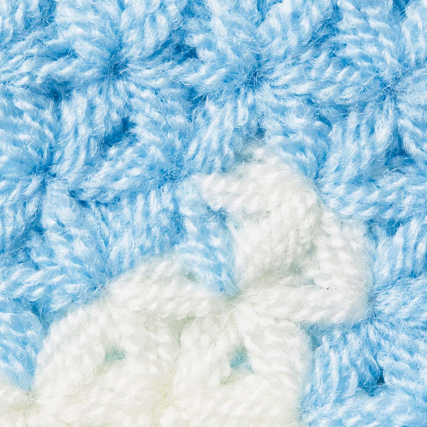 ポコポコした独特の編み地がポイントです。