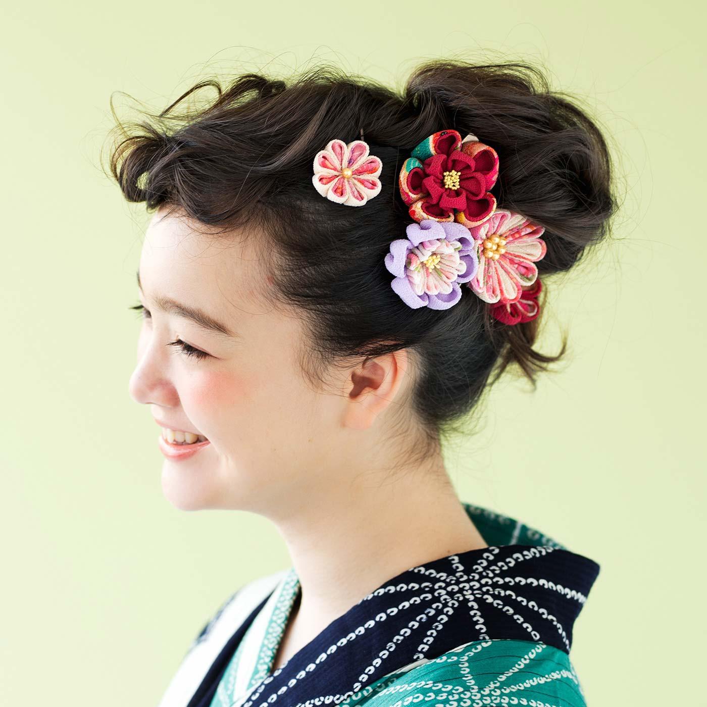 フェリシモ ちりめんで形にする和の趣 四季折々つまみ細工のお花の会