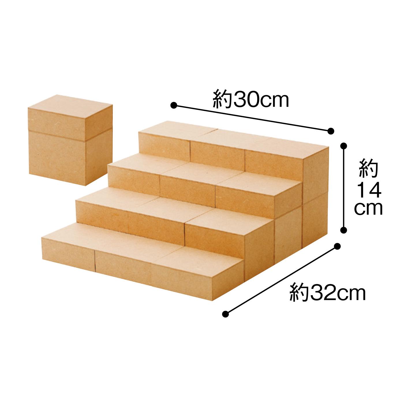 玉手箱を重ねると、10回分でひな壇を組み立てることができます。