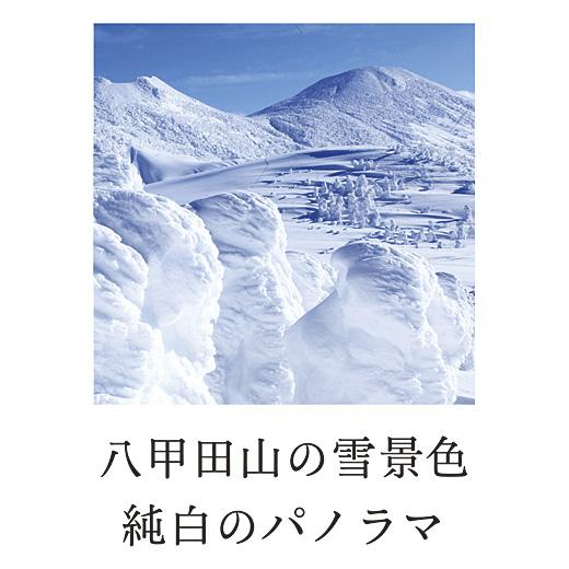 八甲田山の雪景色純白のパノラマ