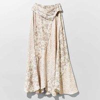 <フェリシモ>MEDE19F ボタニカルプリントスカート〈アイボリー〉【送料無料】