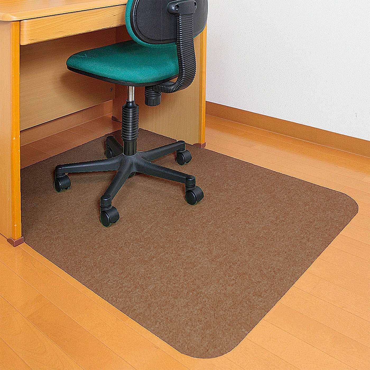 フェリシモ ずれずに床の傷つきを防止 学習机の足もとマット