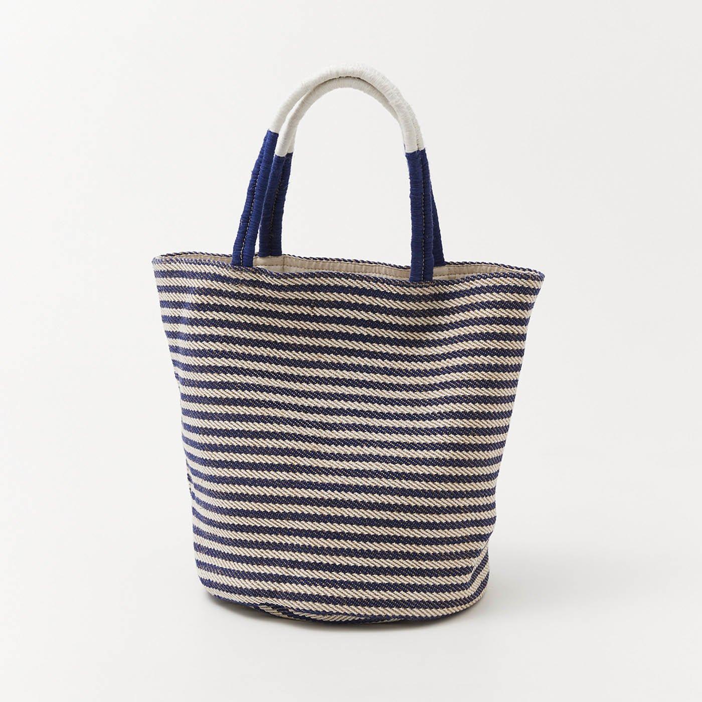 hint hint ジュートで編み上げたバッグ〈ボーダー〉