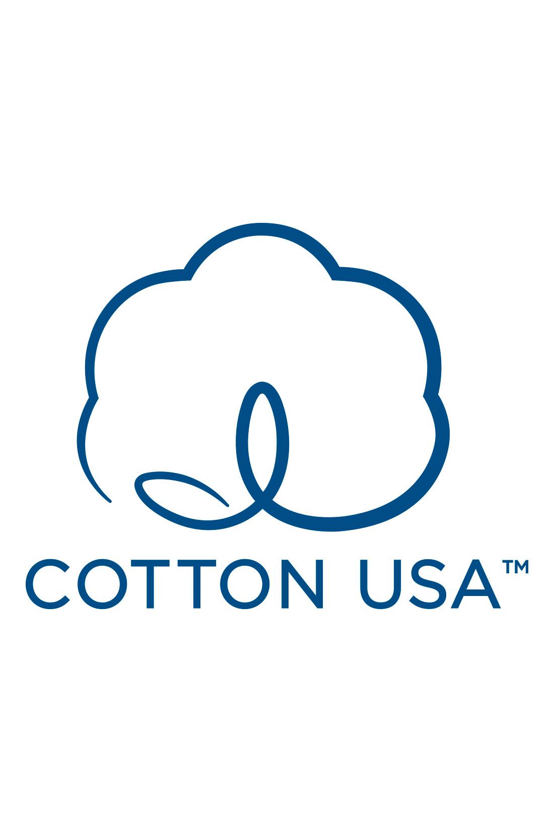 アメリカ綿を使用した優秀な品質の商品にのみ使用を認められた、COTTON USAのマーク付き。