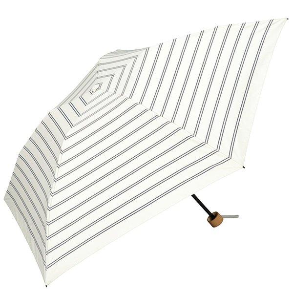 軽量約130g! いつも持ち歩きたいボーダー折りたたみ日傘