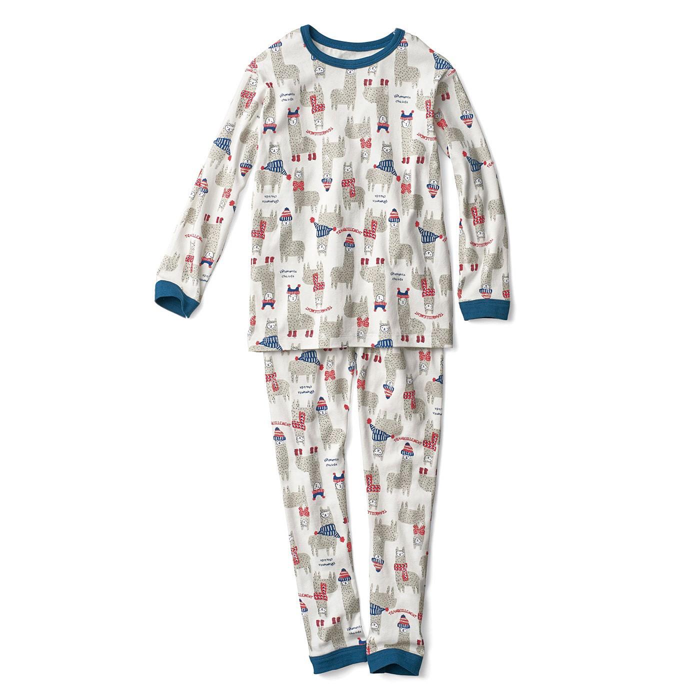 おなか出ないよ! はらまきドッキングイラストパジャマ〈ネイビー×ライトグレー〉