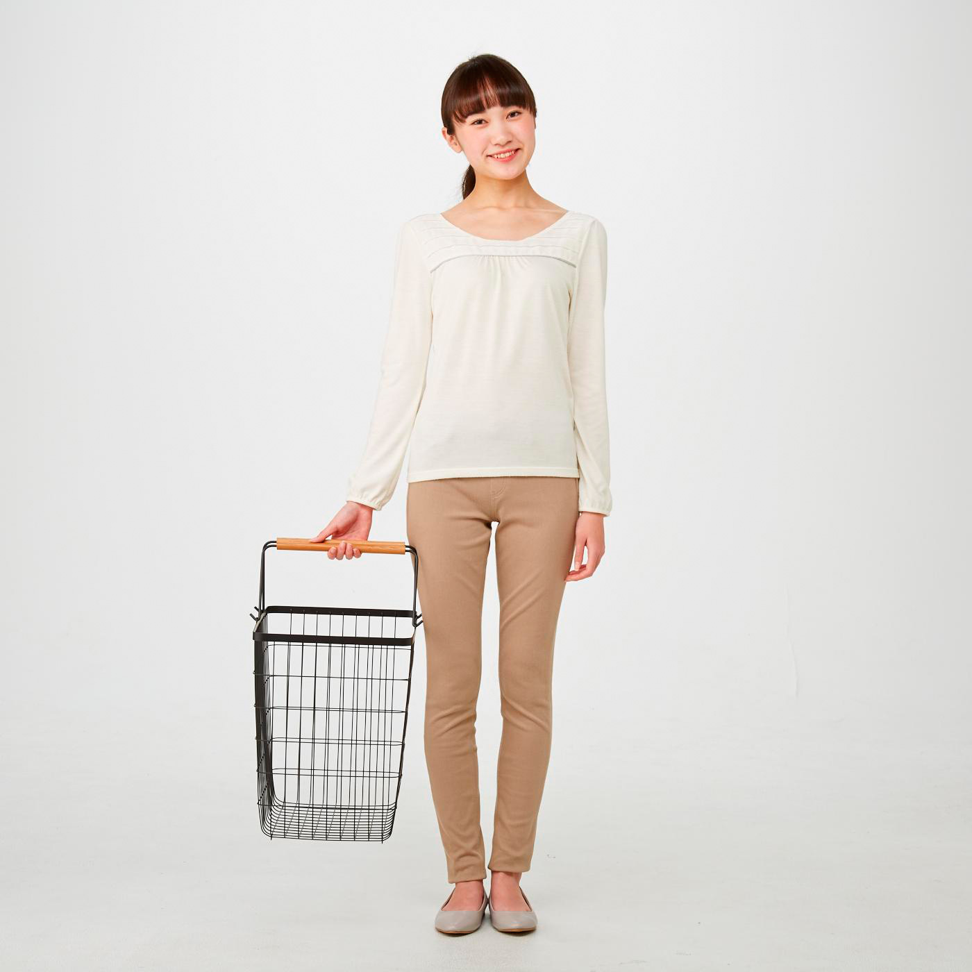 大容量サイズで、家族分の洗濯物に便利。3~4人分の洗濯物にちょうどいいサイズです。