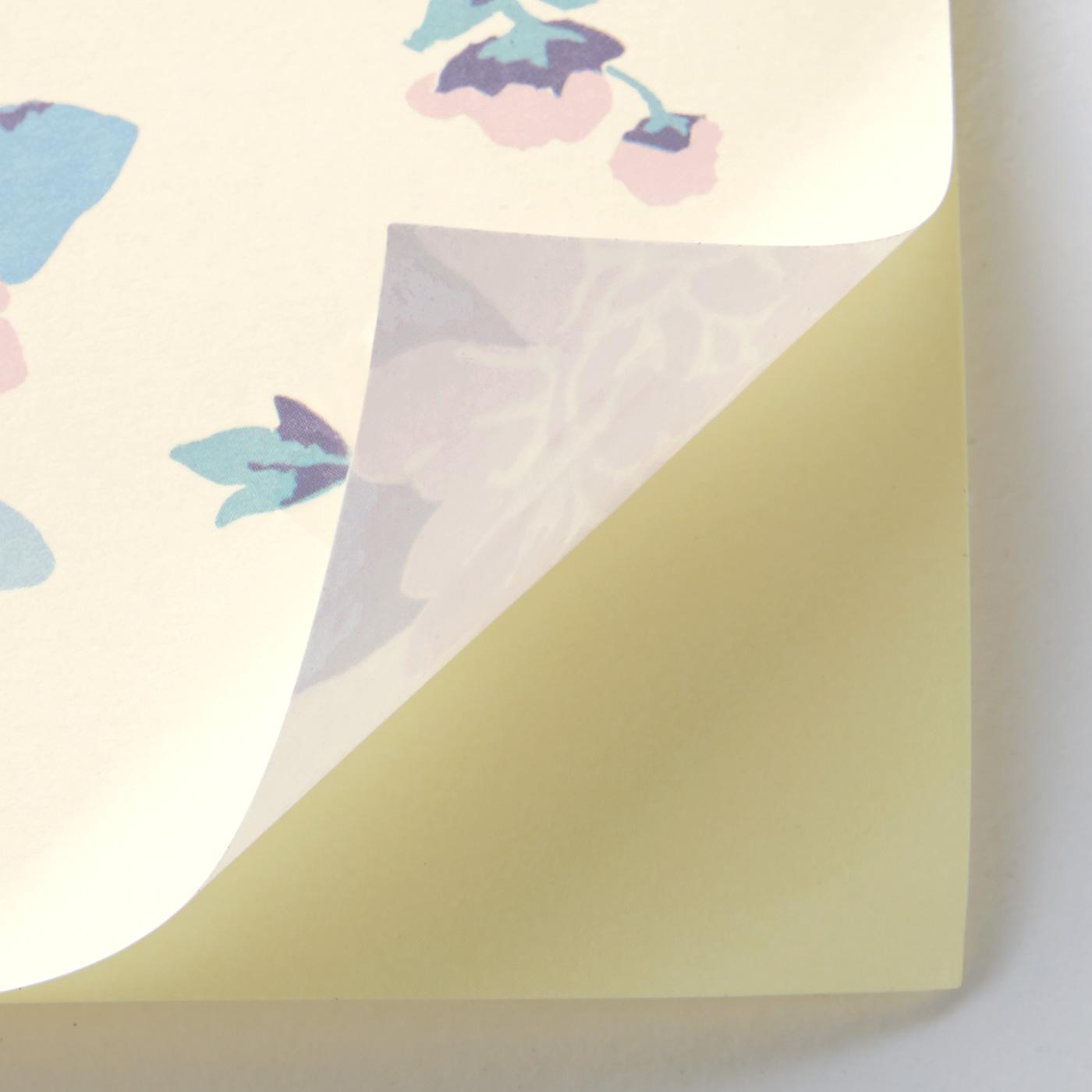 壁にぴたりと貼り付く薄手の上質紙。