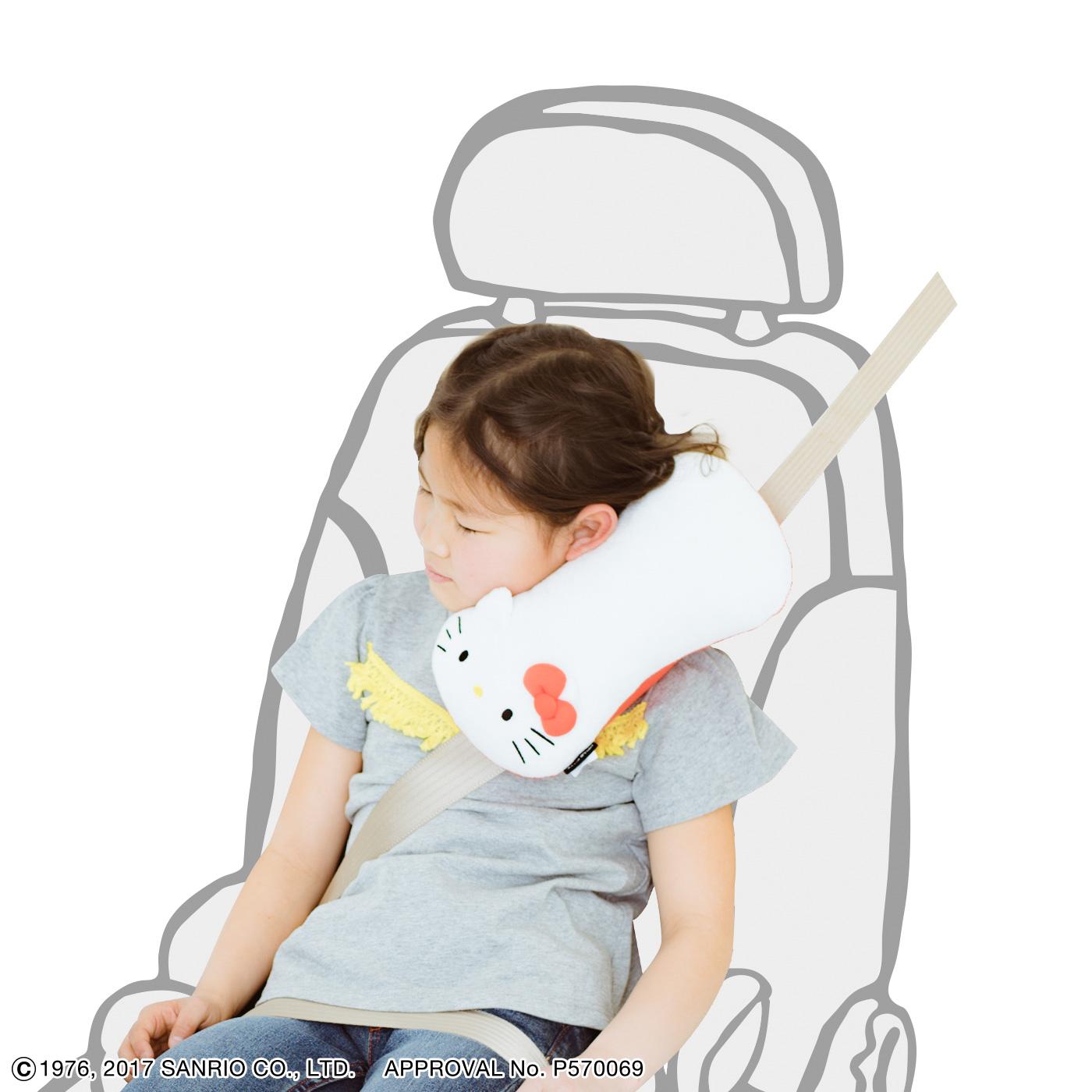 フェリシモ ハローキティ 長時間の移動も安心! すやすや眠れるシートベルト枕の会