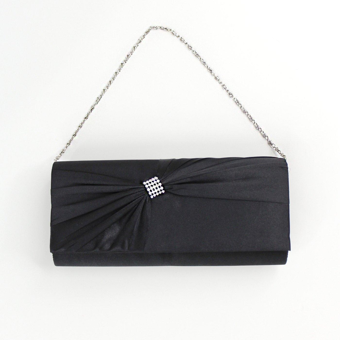 サテンリボンバッグ〈ブラック〉