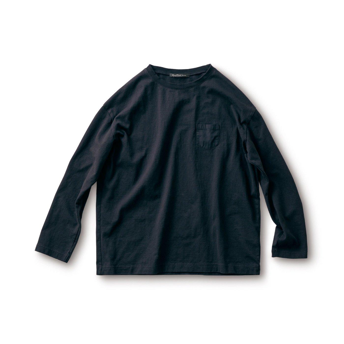 サニークラウズ すそから長袖Tシャツ〈メンズ〉黒