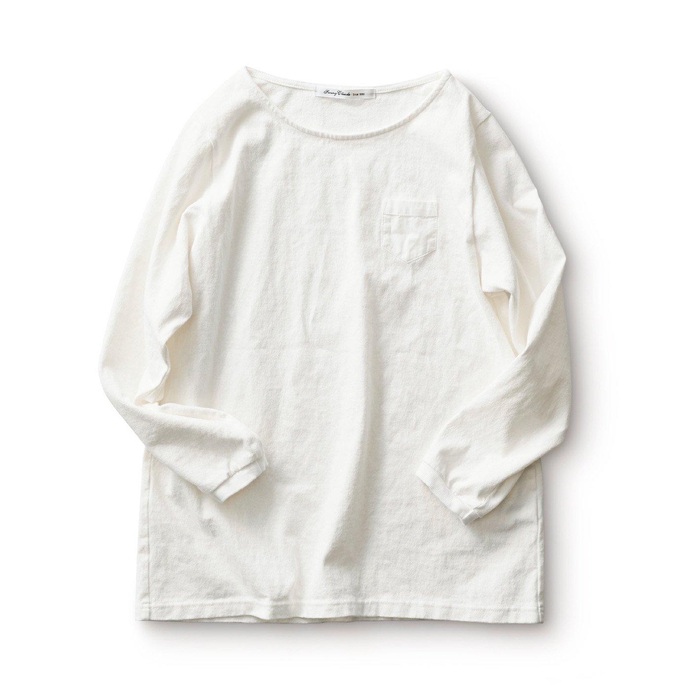 サニークラウズ すそから長袖Tシャツ〈レディース〉白