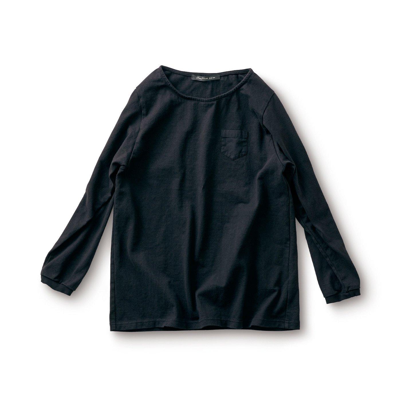 サニークラウズ すそから長袖Tシャツ〈レディース〉黒