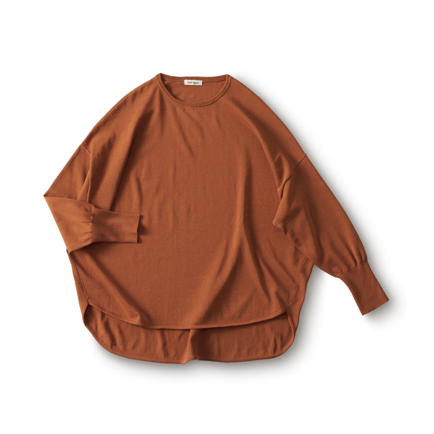 and myera 丸みのあるセーター〈テラコッタ〉