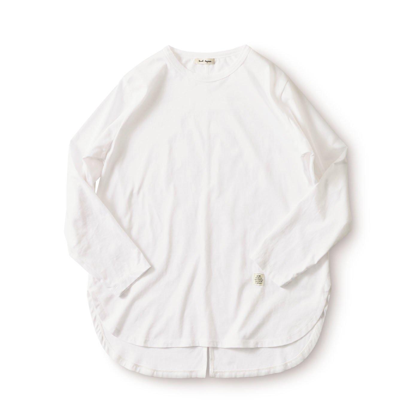 and myera すそ出しロングスリーブTシャツ