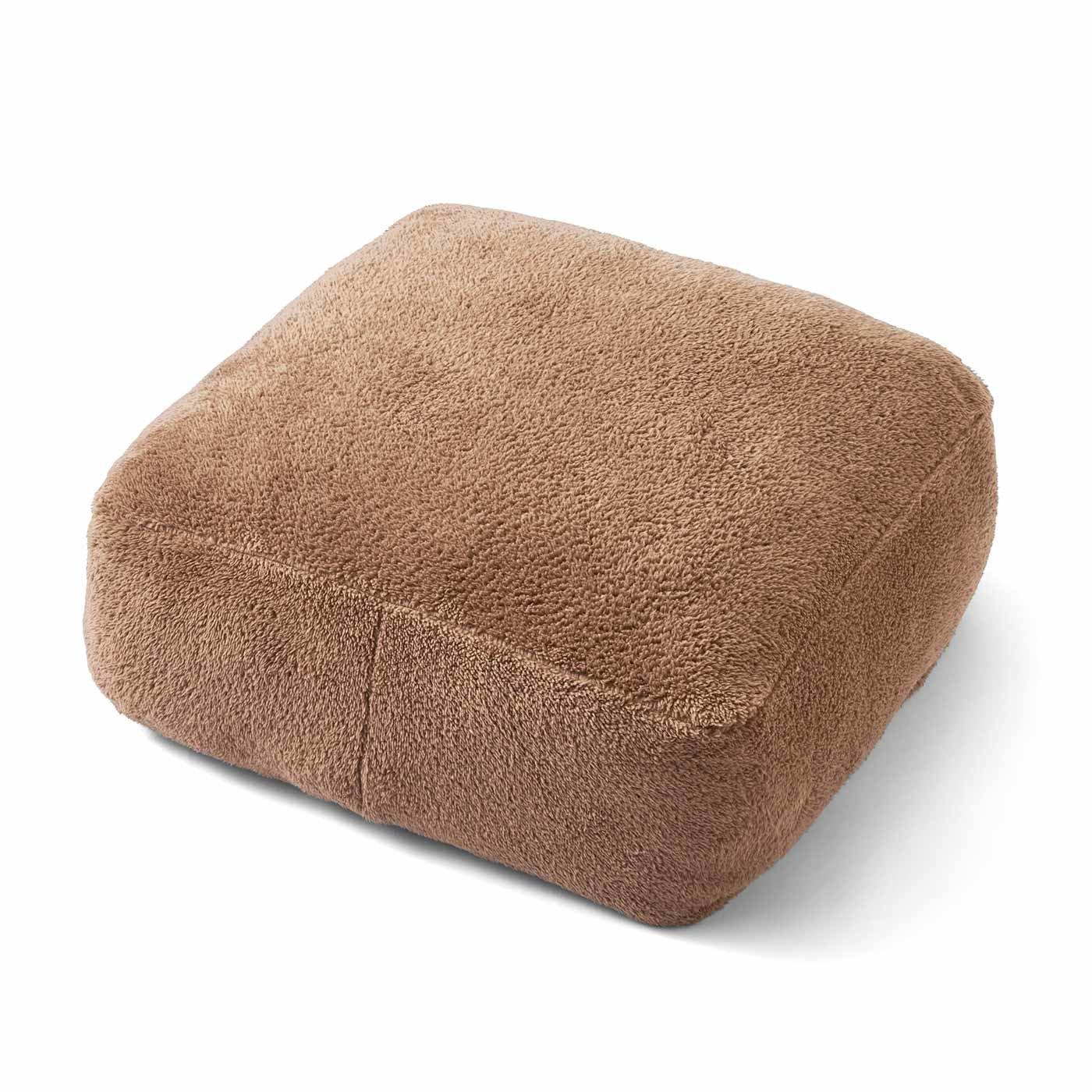 古着屋さんで見つけたような 布団収納あったかボアザブトン〈くまブラウン〉