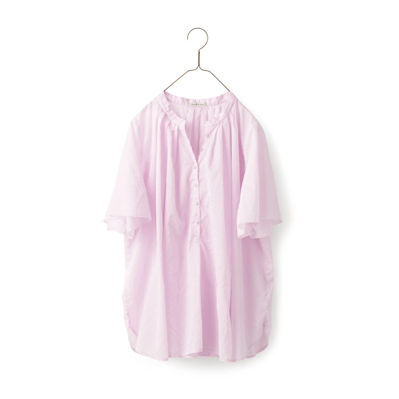 サニークラウズ 朝顔の花ブラウス〈レディース〉ピンク
