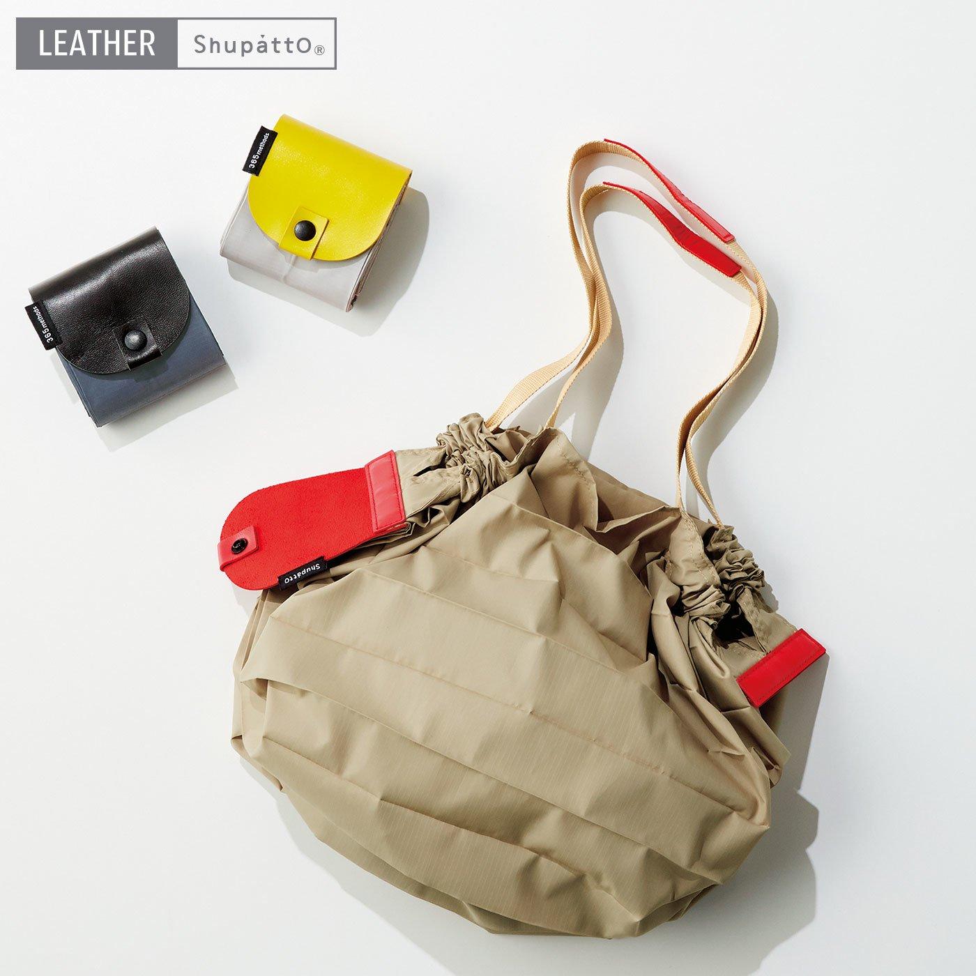 とにかく簡単!! コンパクト折りたたみ携帯バッグ レザーシュパットMサイズ