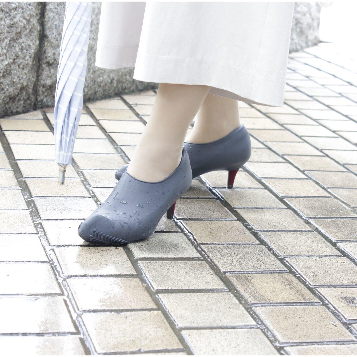 KATEVA+(カテバプラス) 履いている靴にかぶせるだけ! 雨の日シリコーンヒールカバー