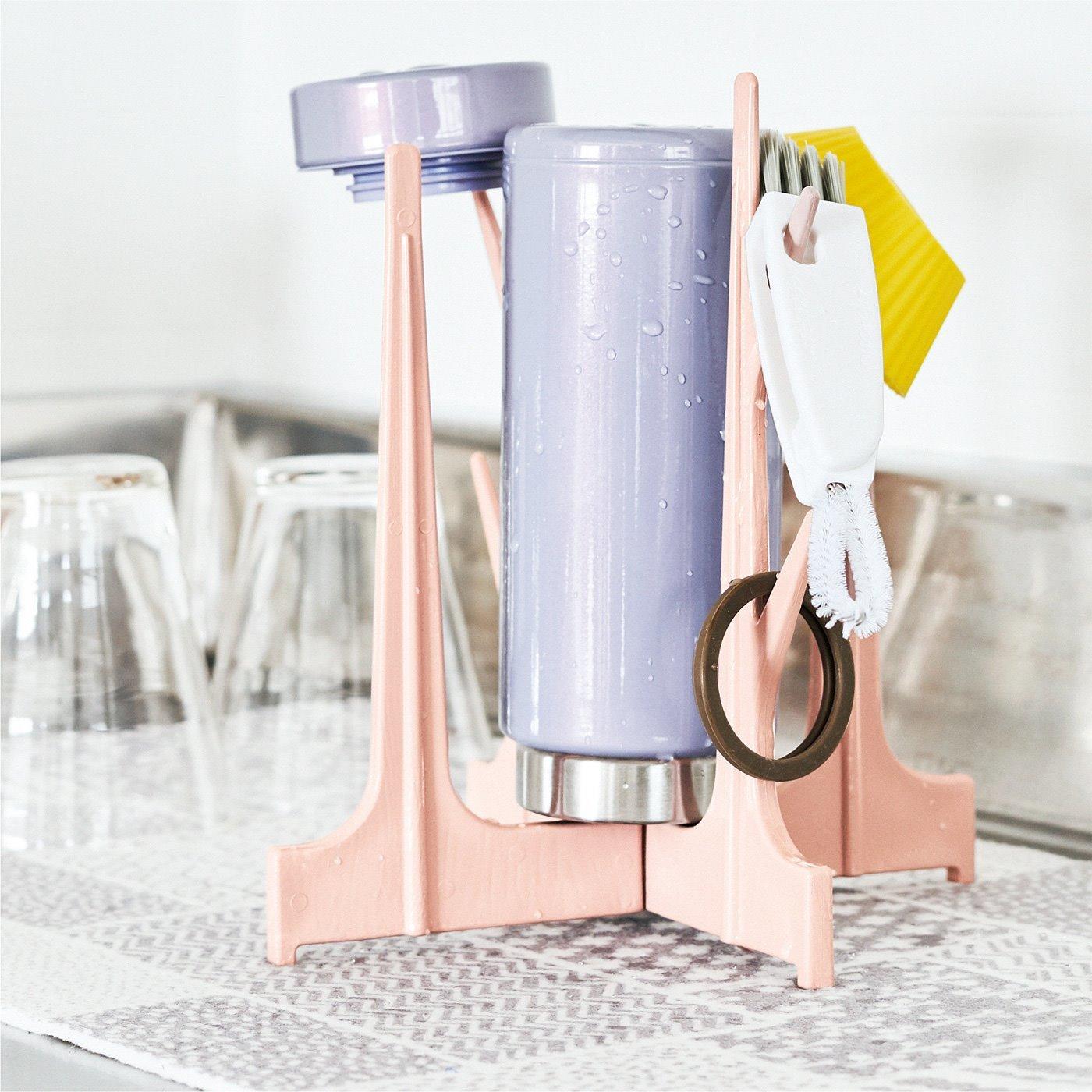 水筒水きりスタンド&水筒すき間洗いブラシセット