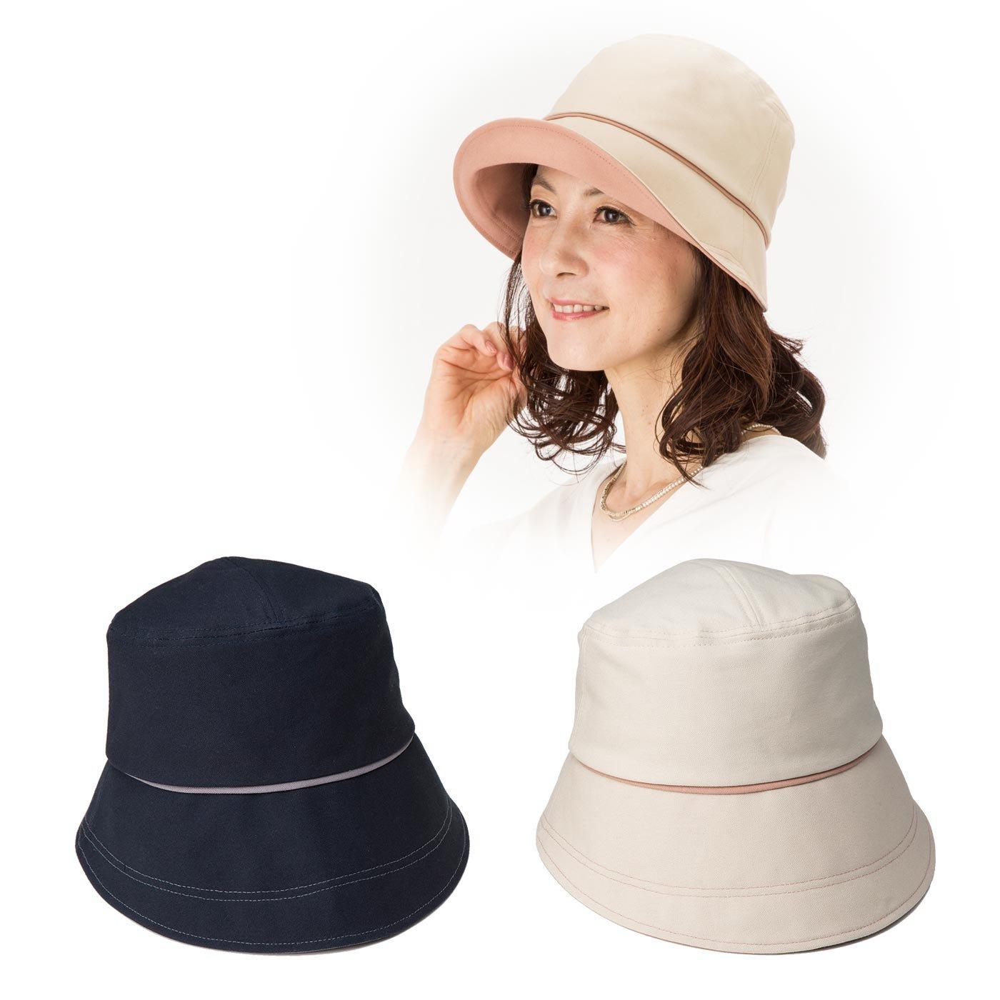 国産 倉敷帆布のおでかけUVカット帽子