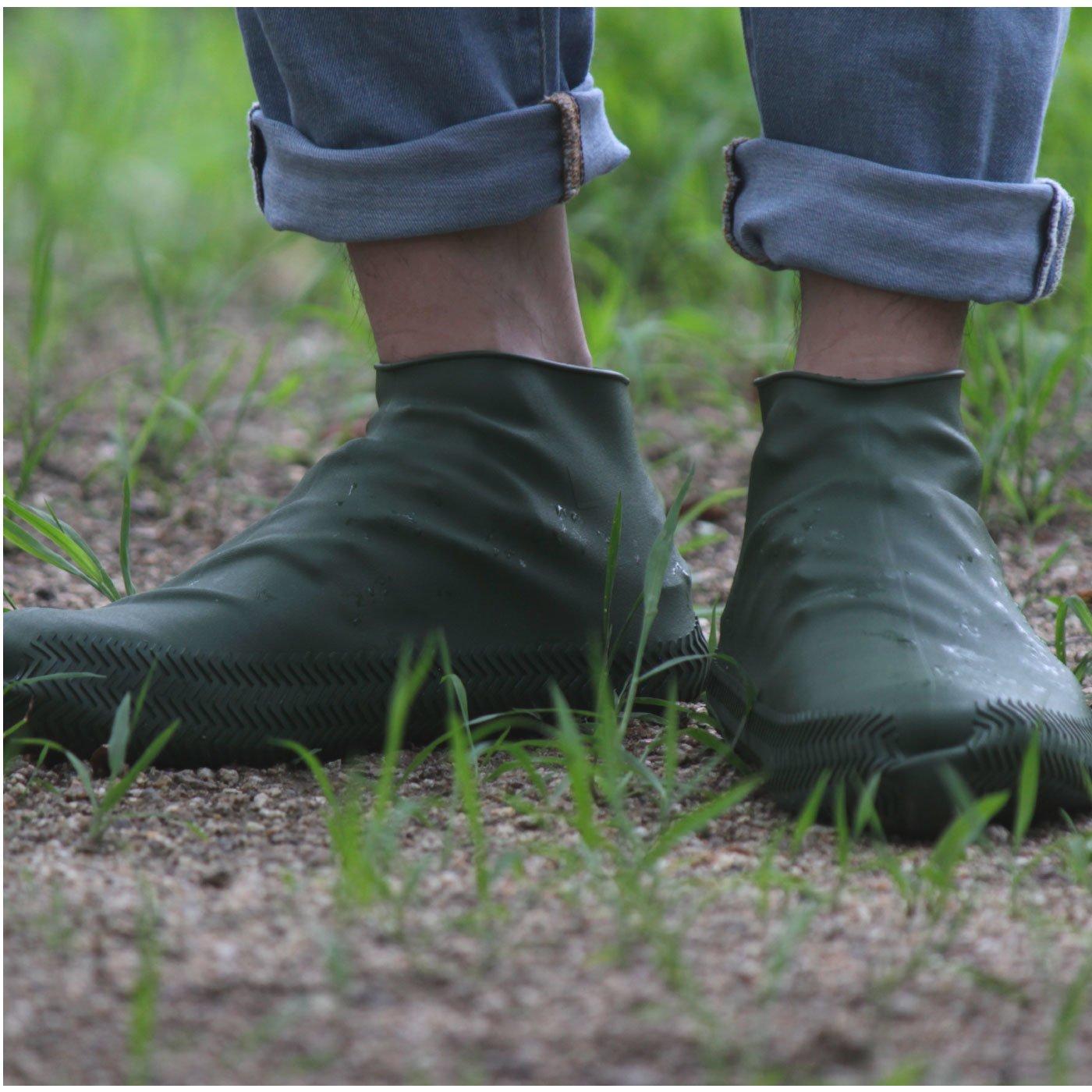 KATEVA+(カテバプラス) 履いている靴にかぶせるだけ! 雨の日シリコーンシューズカバー Lサイズ