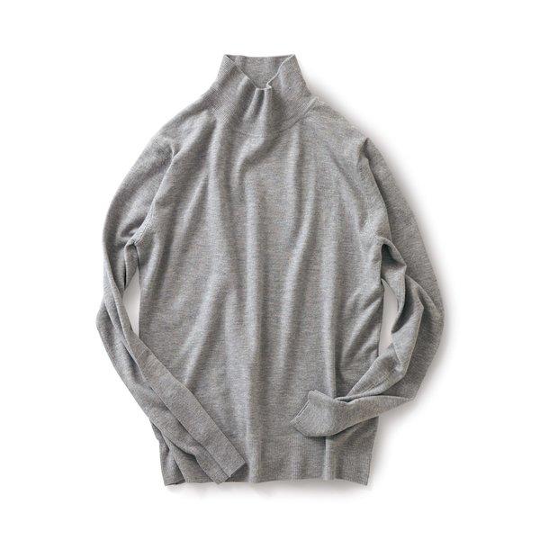 サニークラウズ 熱燗徳利セーター〈メンズ〉グレー杢
