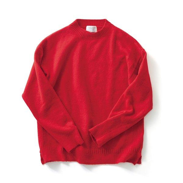 サニークラウズ 気取らずセーター〈メンズ〉真っ赤