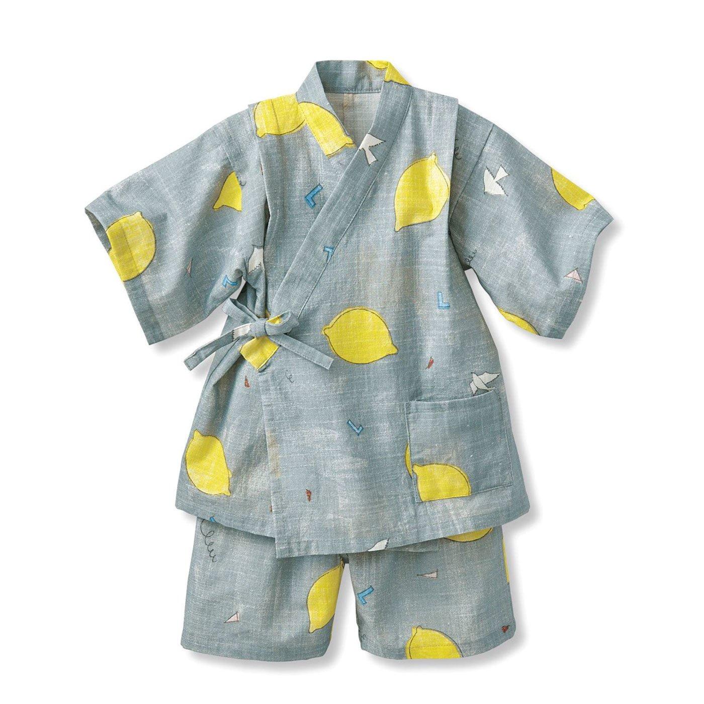 【3~10日でお届け】京都Subikiawa食器店さんとつくった レトロなレモン柄のじんべい
