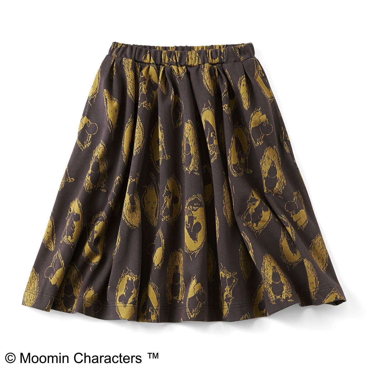 ムーミンと仲間たち カットソージャカードスカート〈ブラック〉