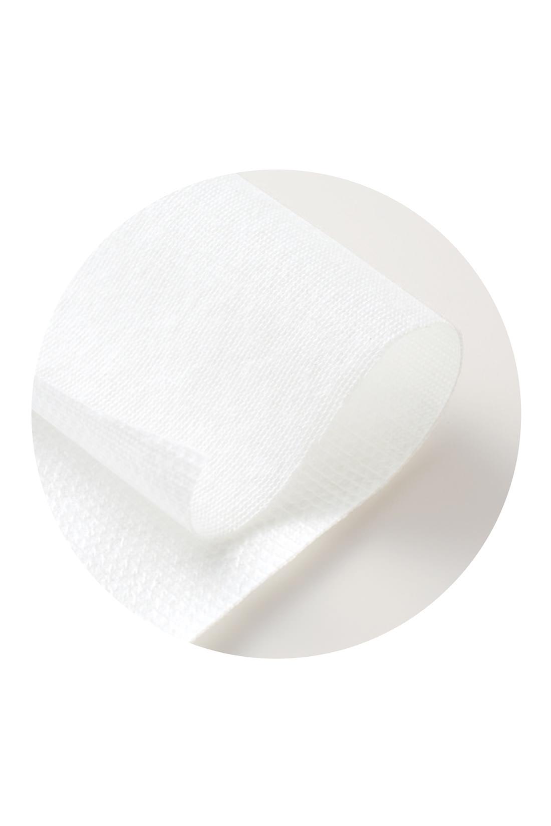 しっかりガードするのに薄い防水布。もたつき感がないから、はき心地はふつうのショーツ気分。