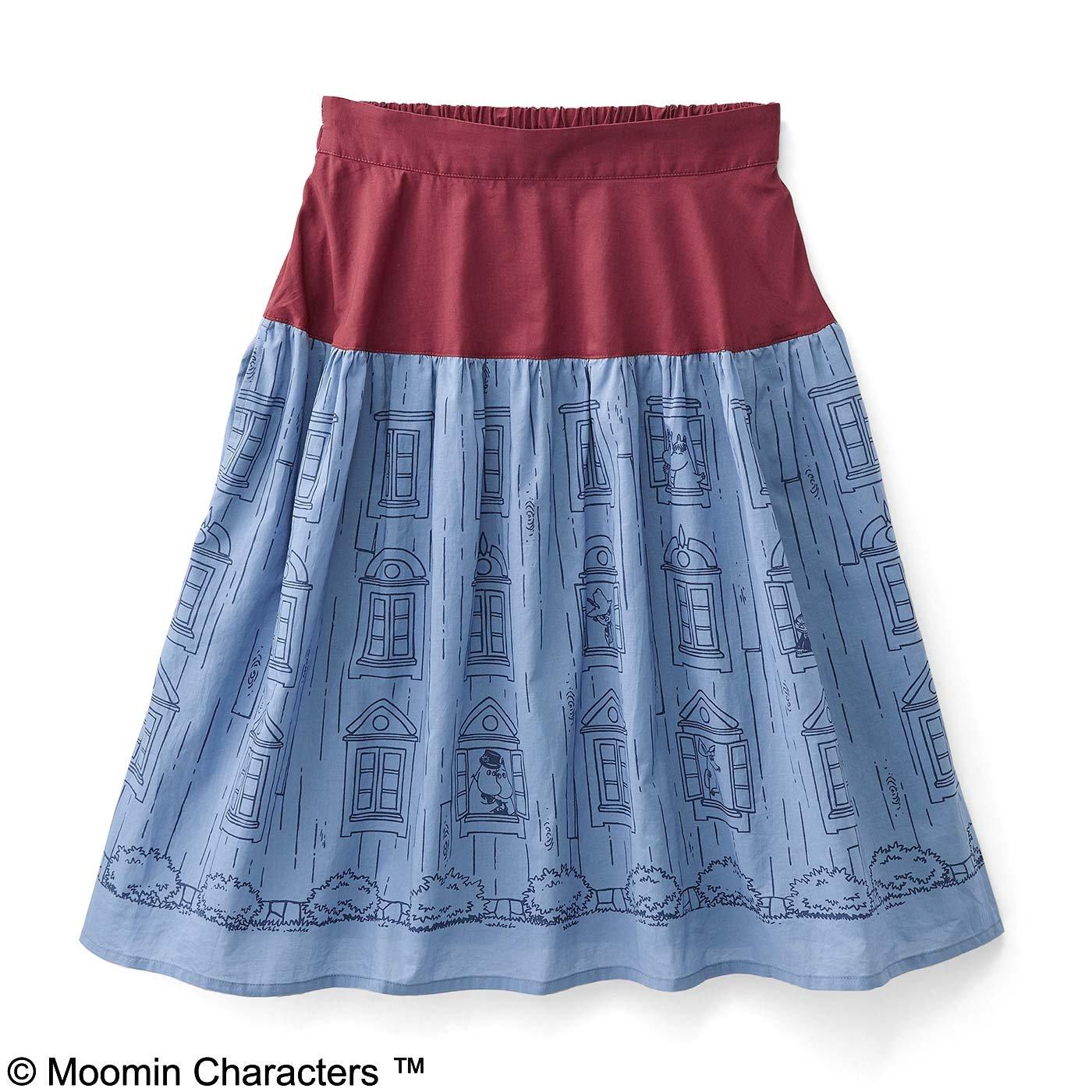 MOOMIN ムーミンハウス ふんわりギャザースカート
