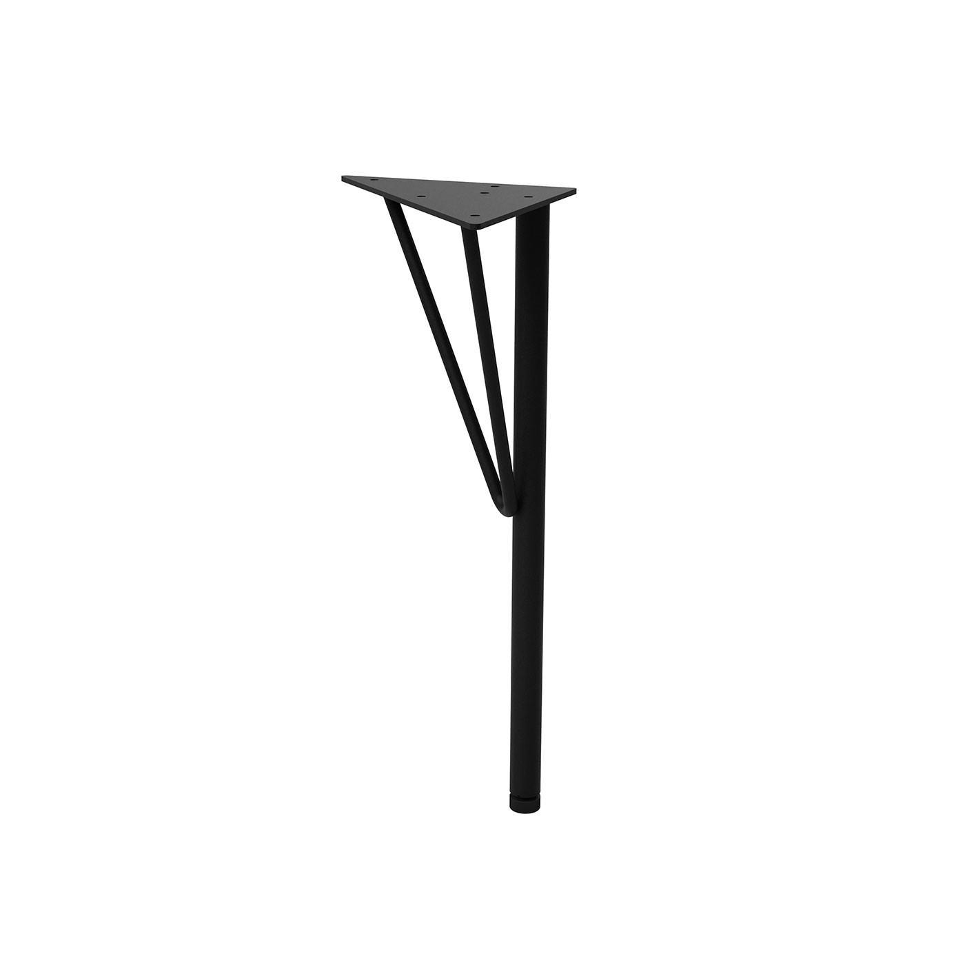 スチールローテーブル脚 黒 1本