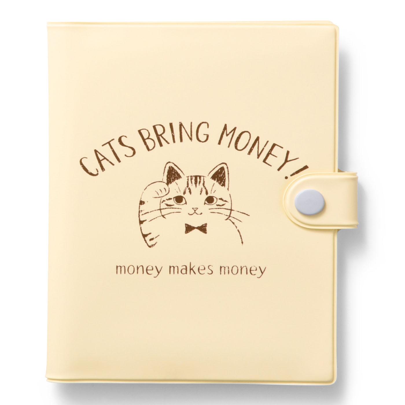〈バニラ〉お金を招くと言われている右手を上げた猫のイラストが描かれています。