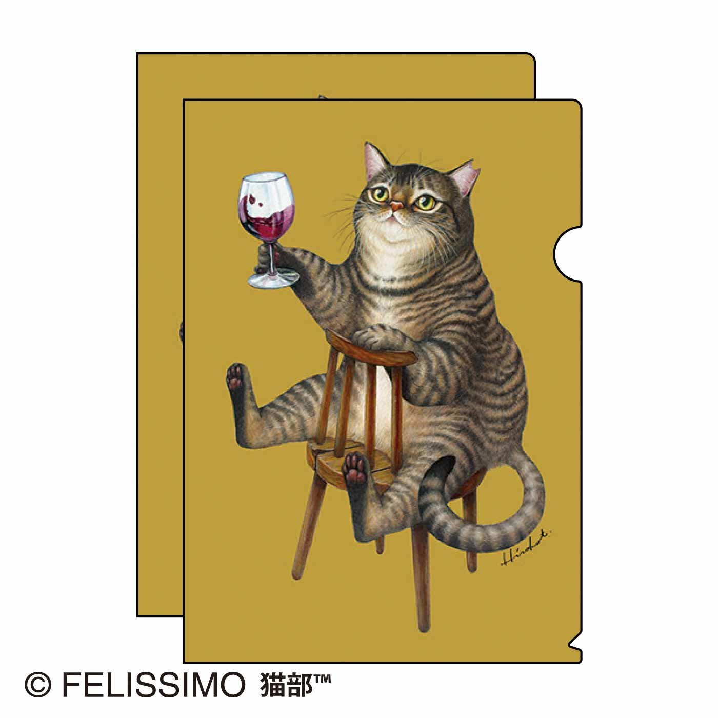 たなかひろこ×猫部 地域猫チャリティークリアファイル2021
