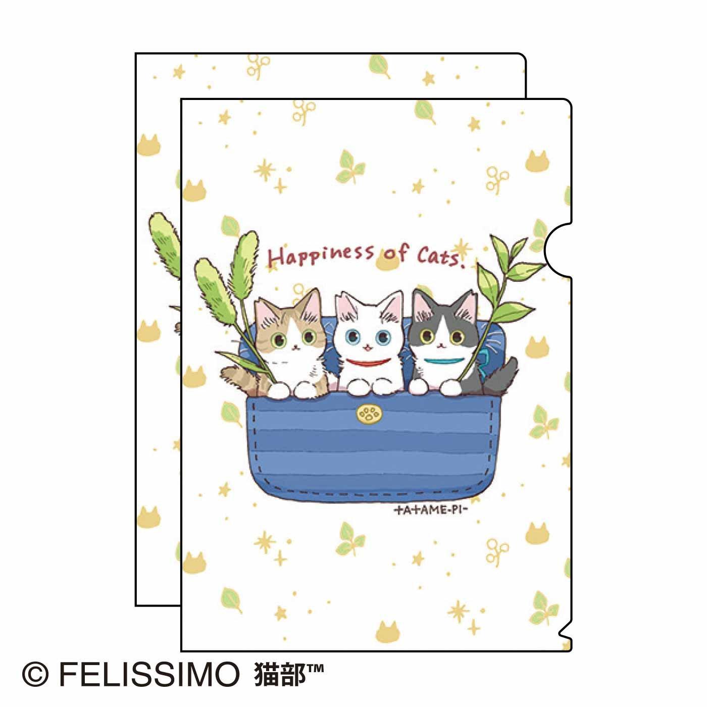 たたメーピー×猫部 地域猫チャリティークリアファイル2021