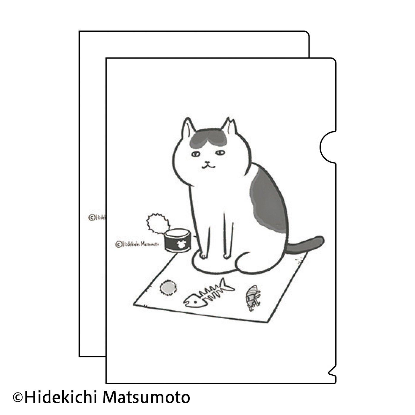 松本ひで吉×猫部 地域猫チャリティークリアファイル2021