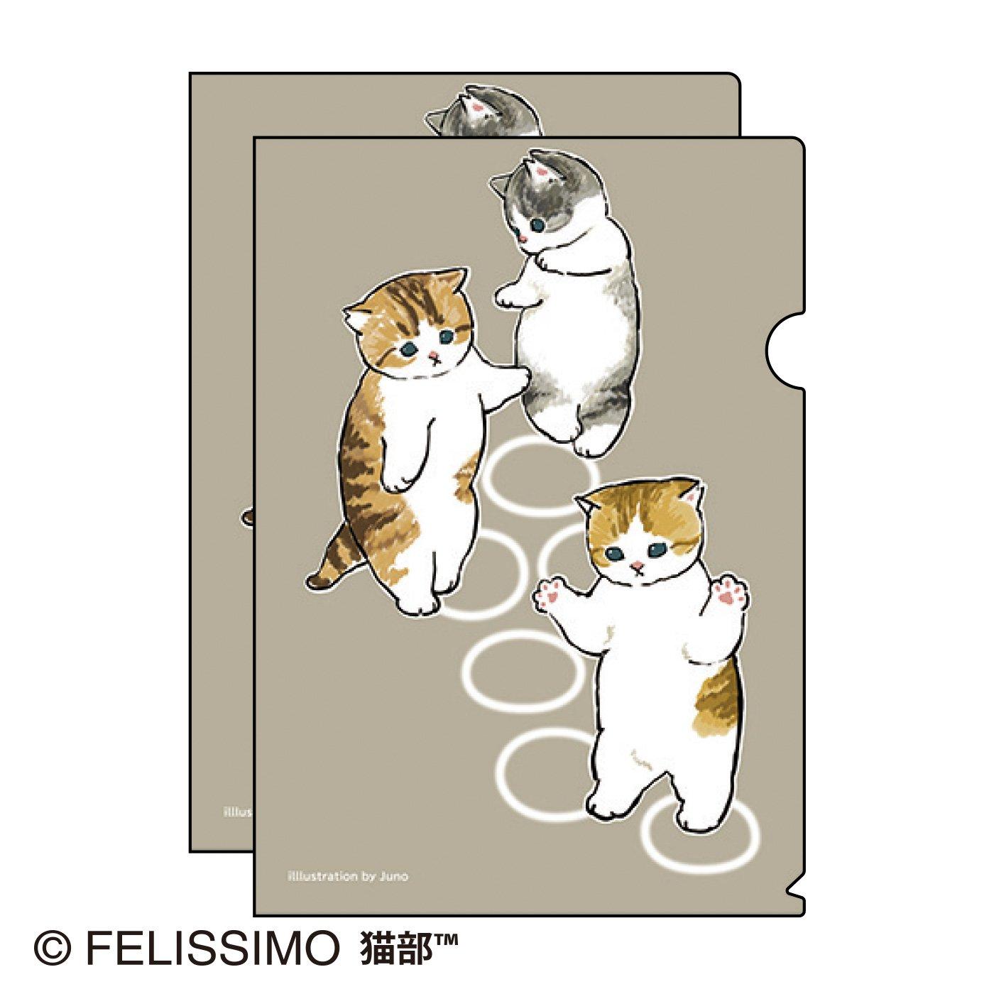 ぢゅの×猫部 地域猫チャリティークリアファイル2021