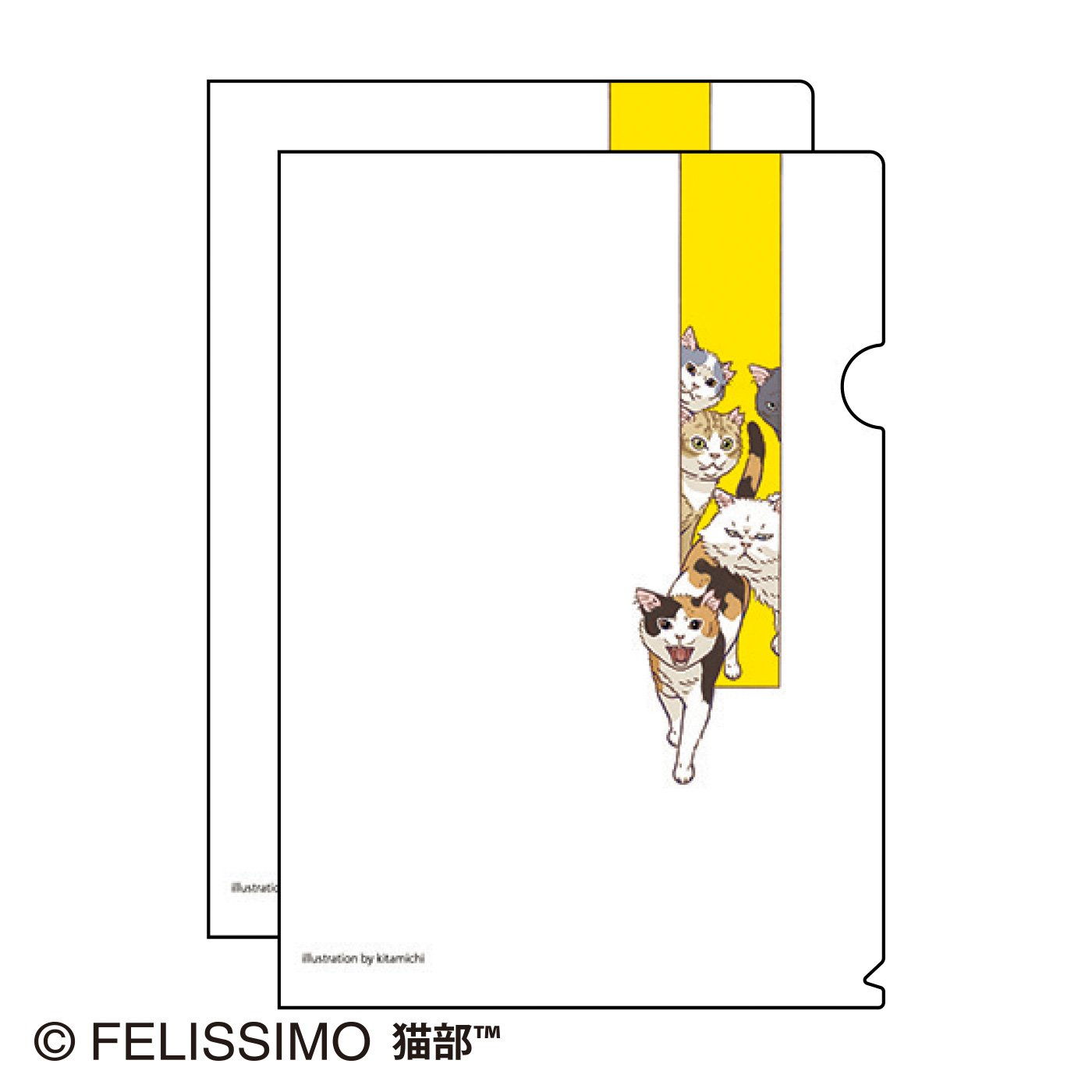 北道正幸×猫部 地域猫チャリティークリアファイル2021