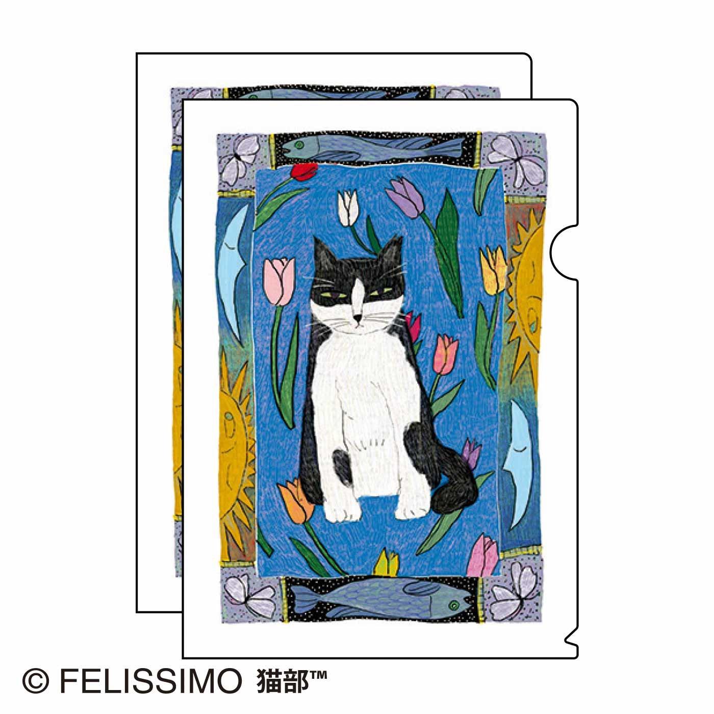 土肥薫季×猫部 地域猫チャリティークリアファイル2021