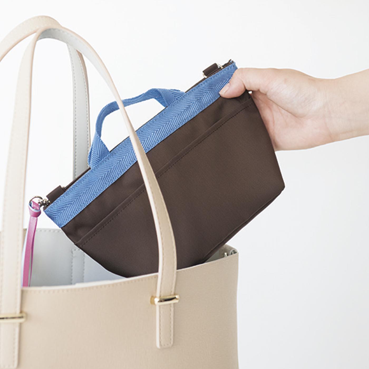 必要なものはひとまとめにして、そのままバッグにイン。